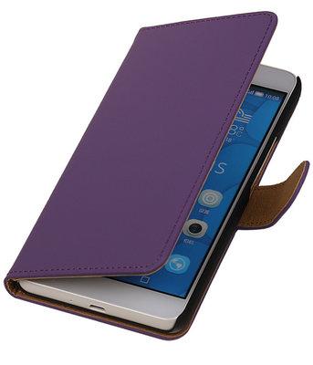 Hoesje voor LG G4c Effen Bookstyle Wallet Paars