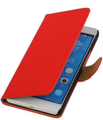 Hoesje voor LG G4c Effen Bookstyle Wallet Rood