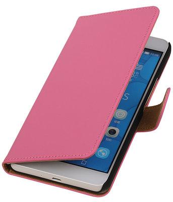 Hoesje voor LG G4c Effen Bookstyle Wallet Roze