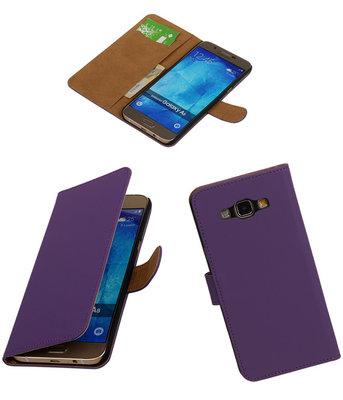 Hoesje voor Samsung Galaxy A8 2015 Effen Bookstyle Wallet Paars