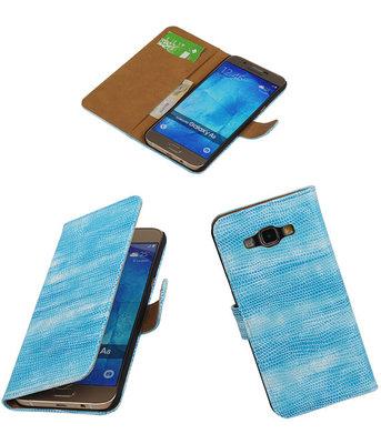 Hoesje voor Samsung Galaxy A8 2015 Bookstyle Wallet Mini Slang Blauw