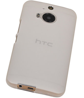Hoesje voor HTC One M9 TPU Transparant Wit