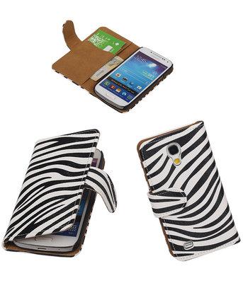 Hoesje voor Samsung Galaxy S4 mini Zebra Booktype Wallet