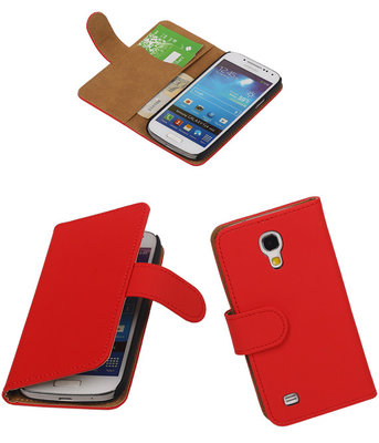 Rood Hoesje voor Samsung Galaxy S4 Mini s Book/Wallet Case/Cover