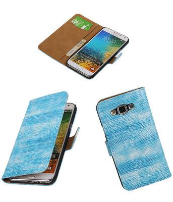 Samsung Galaxy E5 Booktype Wallet Hoesje Mini Slang Blauw