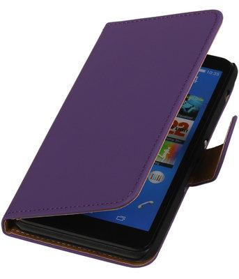 Hoesje voor Sony Xperia E4 - Effen Paars - Booktype Wallet