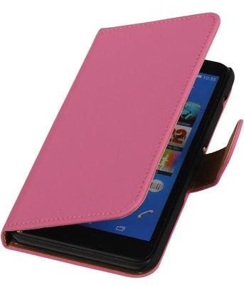 Hoesje voor Sony Xperia E4 - Effen Roze - Booktype Wallet
