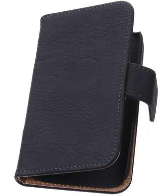 Hoesje voor Huawei Ascend G6 4G Booktype Wallet Hout Zwart