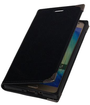 Hoesje voor Samsung Galaxy A7 2015 - Zwart TPU Map Bookstyle
