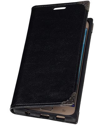 Hoesje voor Samsung Galaxy S6 - Zwart TPU Map Bookstyle