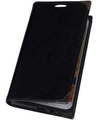 Hoesje voor Samsung Galaxy E5 - Zwart TPU Map Bookstyle