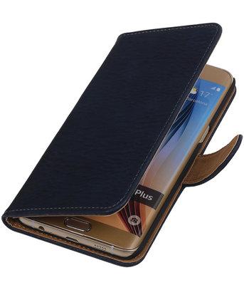 Hout Blauw - Hoesje voor Samsung Galaxy S6 edge Plus