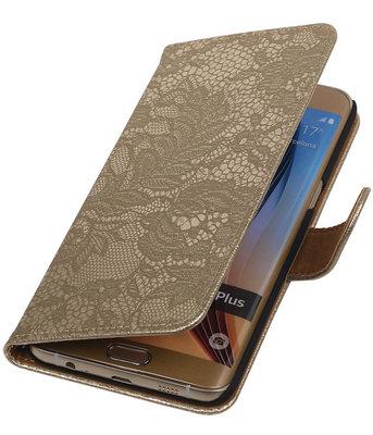 Lace/Kant Goud - Hoesje voor Samsung Galaxy S6 edge Plus