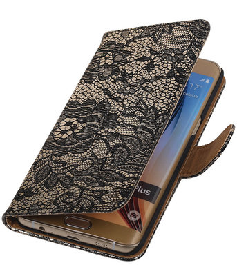 Lace/Kant Zwart - Hoesje voor Samsung Galaxy S6 edge Plus