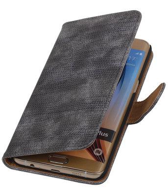 Mini Slang Grijs - Hoesje voor Samsung Galaxy S6 edge Plus