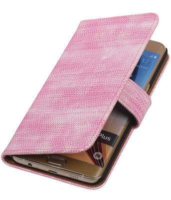 Mini Slang Roze - Hoesje voor Samsung Galaxy S6 edge Plus