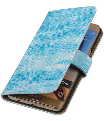 Mini Slang Turquoise - Hoesje voor Samsung Galaxy S6 edge Plus