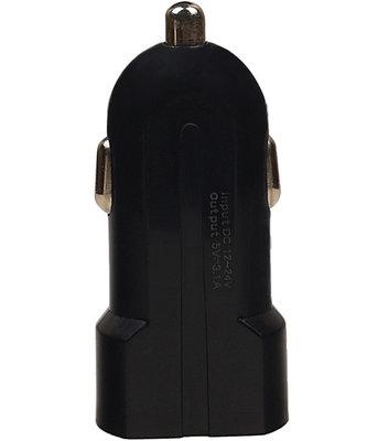 USAMS - Dubbele USB autolader 2.1A voor Hoesje voor Sony Xperia Z5 Compact - Zwart