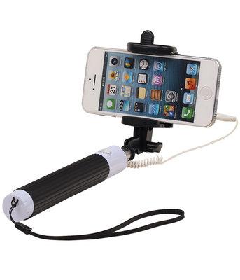 Selfie Stick 80cm zonder batterijen - Zwart
