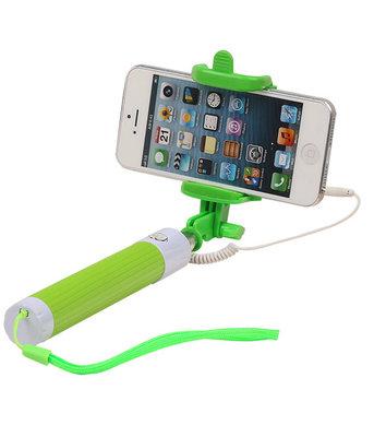 Selfie Stick 80cm zonder batterijen - Groen