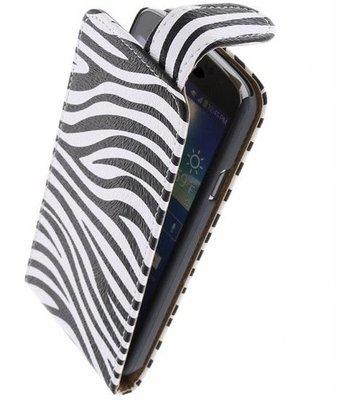 Hoesje voor Huawei Ascend Y200 - Zebra Classic Flipcase