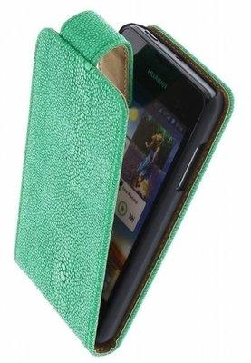 Groen Ribbel Classic flip case cover voor Hoesje voor Nokia Lumia 820