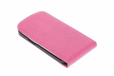 Roze Ribbel Classic flip case cover voor Hoesje voor Nokia Lumia 820