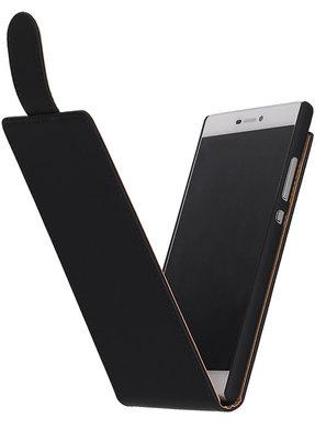 Hoesje voor Nokia XL - Zwart Effen Classic Flipcase