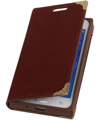 Hoesje voor Samsung Galaxy Xcover 3 - Bruin TPU Map Bookstyle