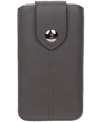 iPhone 6 Plus/6s Plus - Luxe Leder look insteekhoes/pouch - Grijs i6P