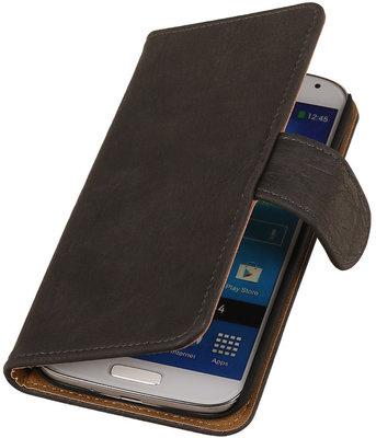 Hoesje voor Sony Xperia Z3 - Grijs Hout Look Bookstyle Wallet