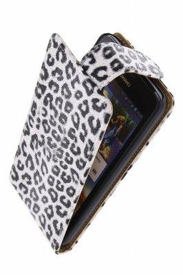 Hoesje voor LG Nexus 5 - Luipaard Wit Classic Flipcase