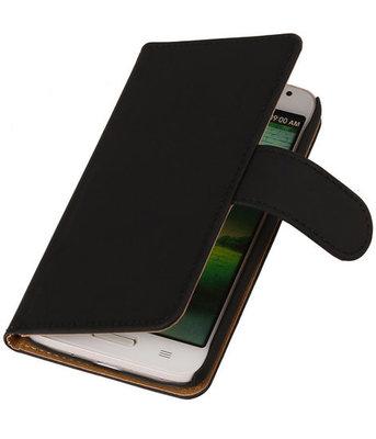 Hoesje voor Motorola RAZR i XT890 - Effen Zwart Wallet