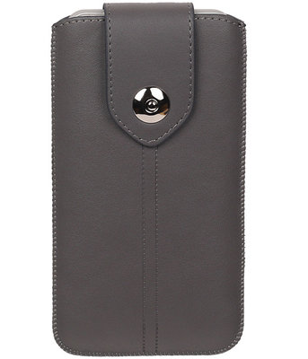 Huawei G8 - Luxe Leder look insteekhoes/pouch - Grijs i6P
