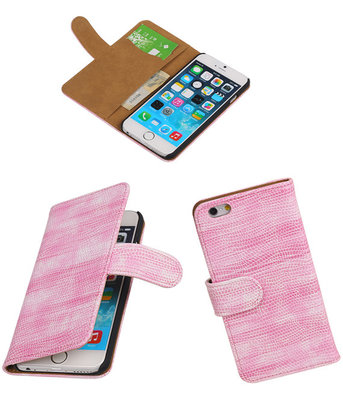 iPhone 5/5s - Booktype Wallet Hoesje Mini Slang Roze
