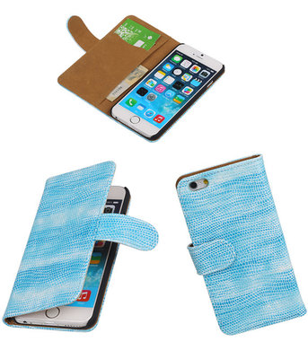 iPhone 5/5s - Booktype Wallet Hoesje Mini Slang Turquoise