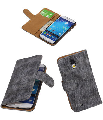 Hoesje voor Samsung Galaxy S4 Mini i9190 - Booktype Wallet Mini Slang Grijs
