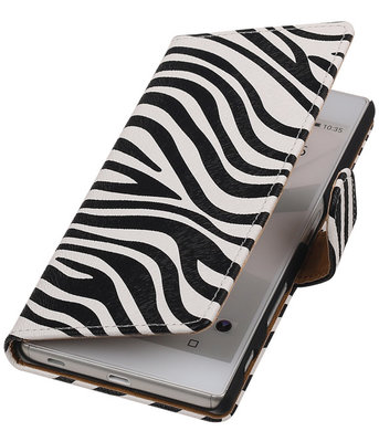 Hoesje voor Sony Xperia Z5 - Zebra Booktype Wallet