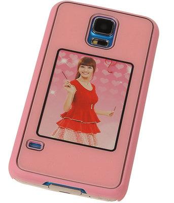 Fotolijst Backcover Hardcase Galaxy S5 Neo Roze