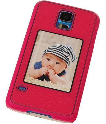 Fotolijst Backcover Hardcase Galaxy S5 Neo Fuchsia