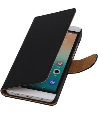 Hoesje voor Huawei Honor 7i - Effen Booktype Wallet Zwart
