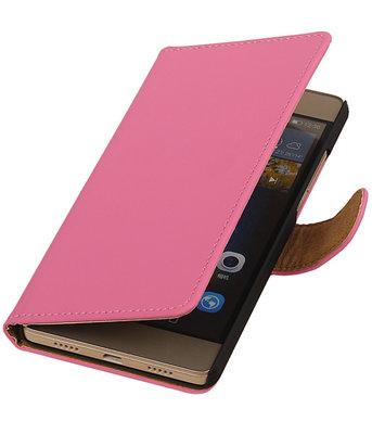 Hoesje voor Huawei G8 - Effen Booktype Wallet Roze