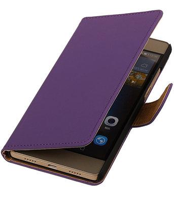 Hoesje voor Huawei G8 - Effen Booktype Wallet Paars