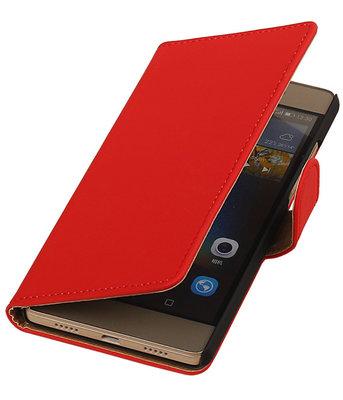 Hoesje voor Huawei G8 - Effen Booktype Wallet Rood
