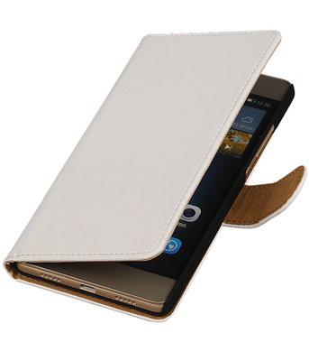 Hoesje voor Huawei G8 - Effen Booktype Wallet Wit