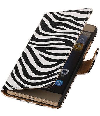 Hoesje voor Huawei G8 - Zebra Booktype Wallet