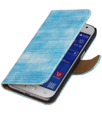 Hoesje voor Samsung Galaxy J2 2015 - Turquoise Booktype Wallet Mini Slang