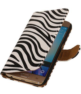 Hoesje voor Samsung Galaxy J2 2015 - Zebra Booktype Wallet