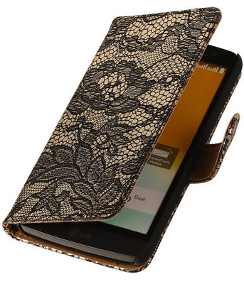 Hoesje voor LG Nexus 5X - Lace Zwart Booktype Wallet