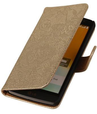 Hoesje voor LG Nexus 5X - Lace Goud Booktype Wallet